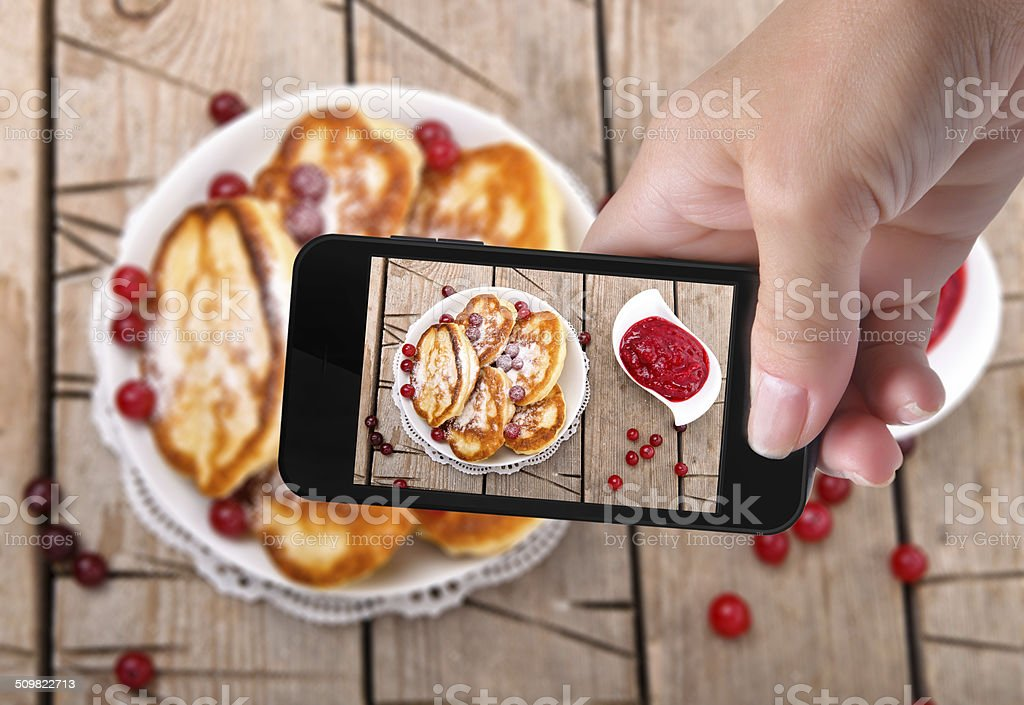photo pancakes stock photo