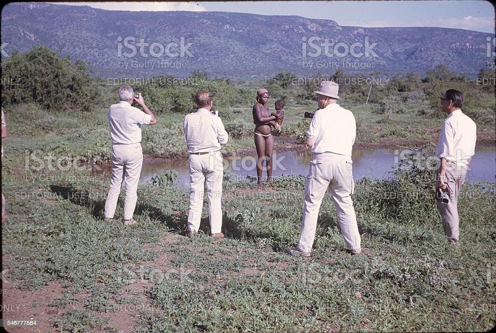 Photo Safari, Tanzania, 1976 stock photo