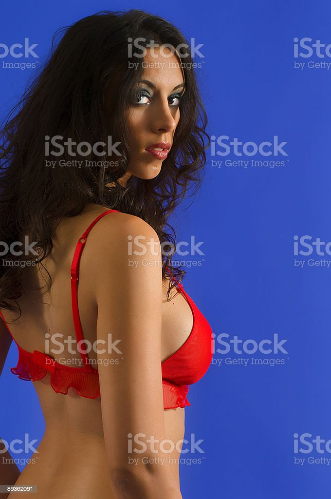 Photo Shoot with Brunette Model royalty-free stock photo