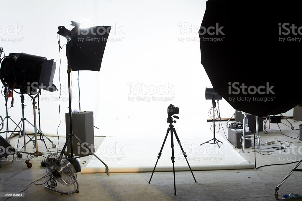 Photo shooting studio stock photo