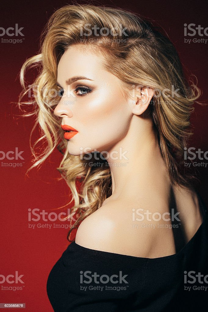 Photo shot of young beautiful woman stock photo