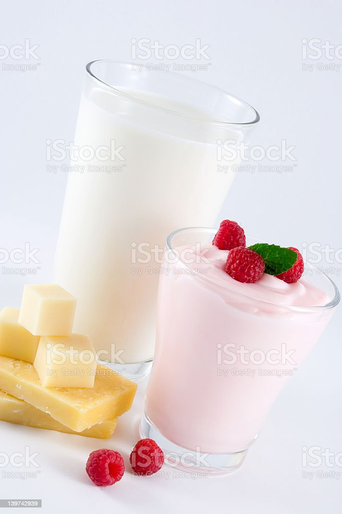 A photo showing some dairy products royalty-free stock photo