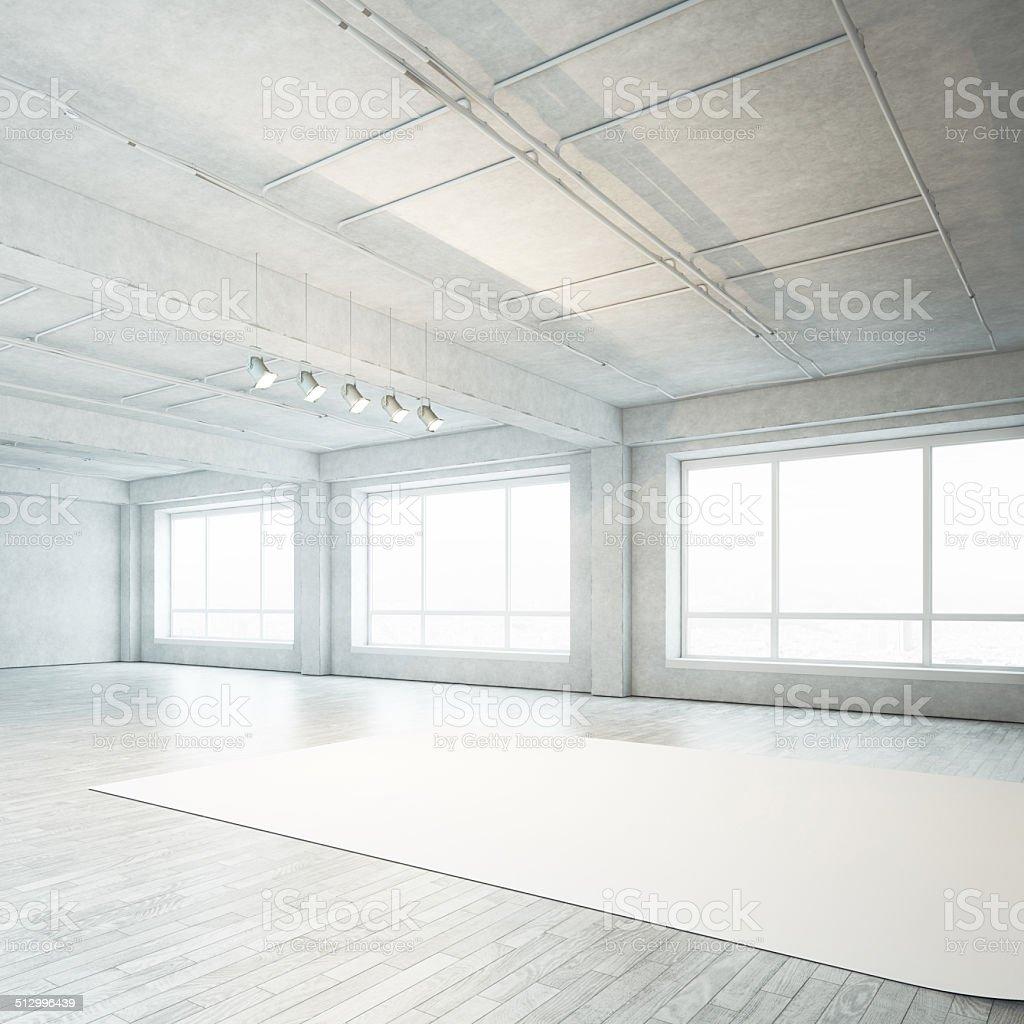 Photo studio interior stock photo