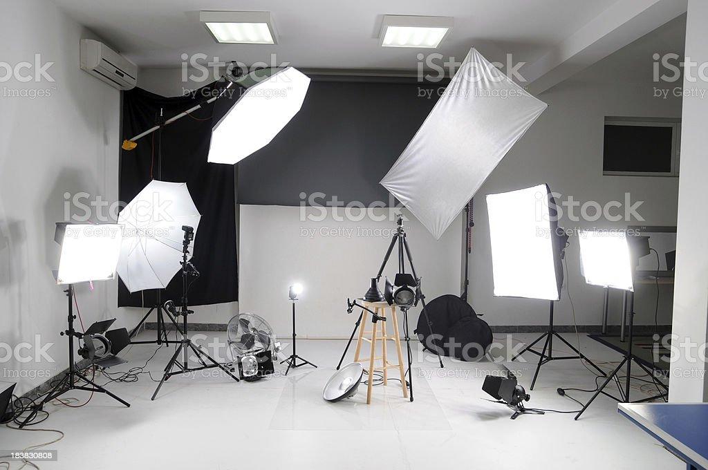 Photo studio stock photo