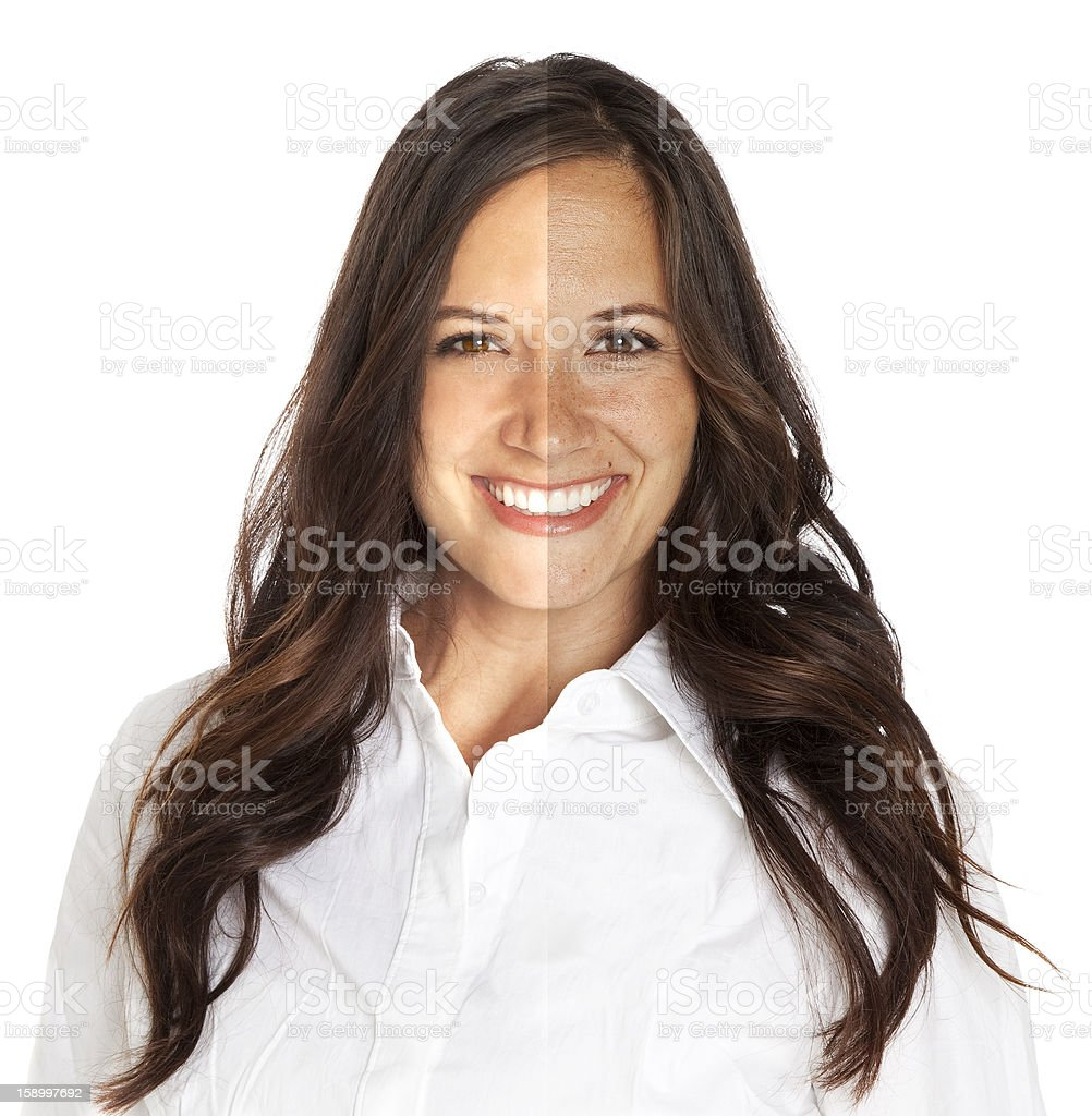 Photo Touch-up royalty-free stock photo