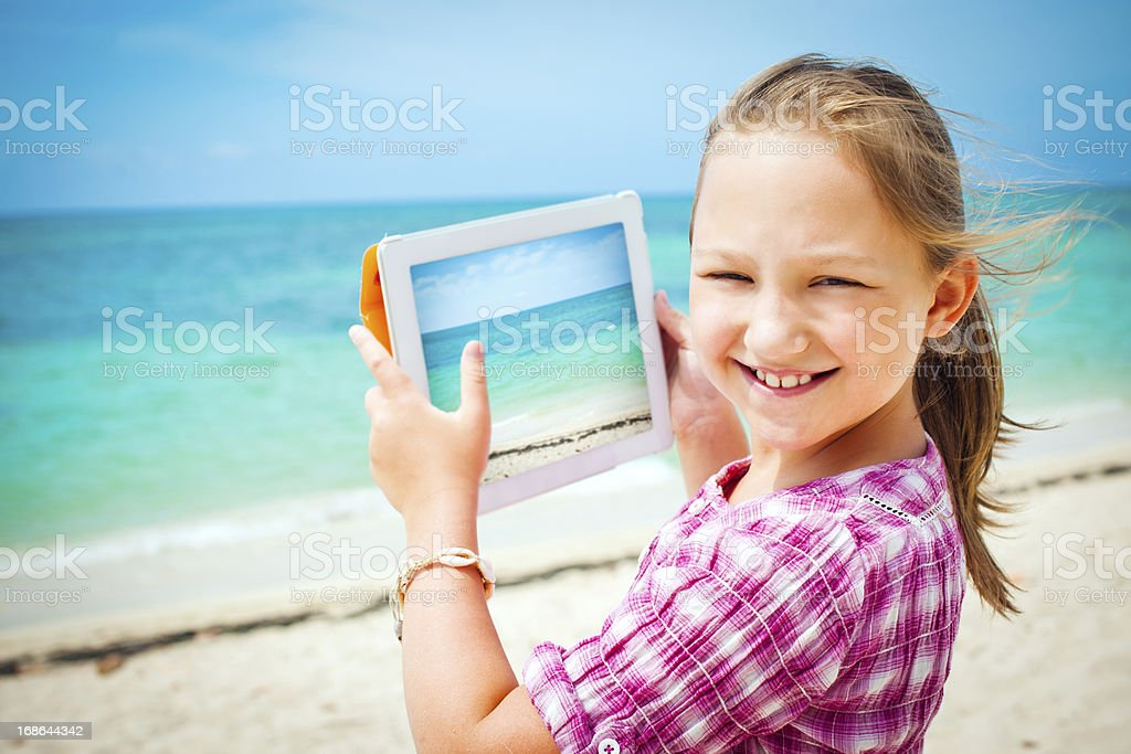 Photo with digital tablet royalty-free stock photo
