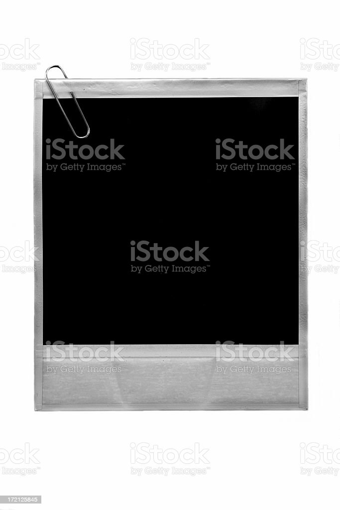 Photo with Paperclip royalty-free stock photo