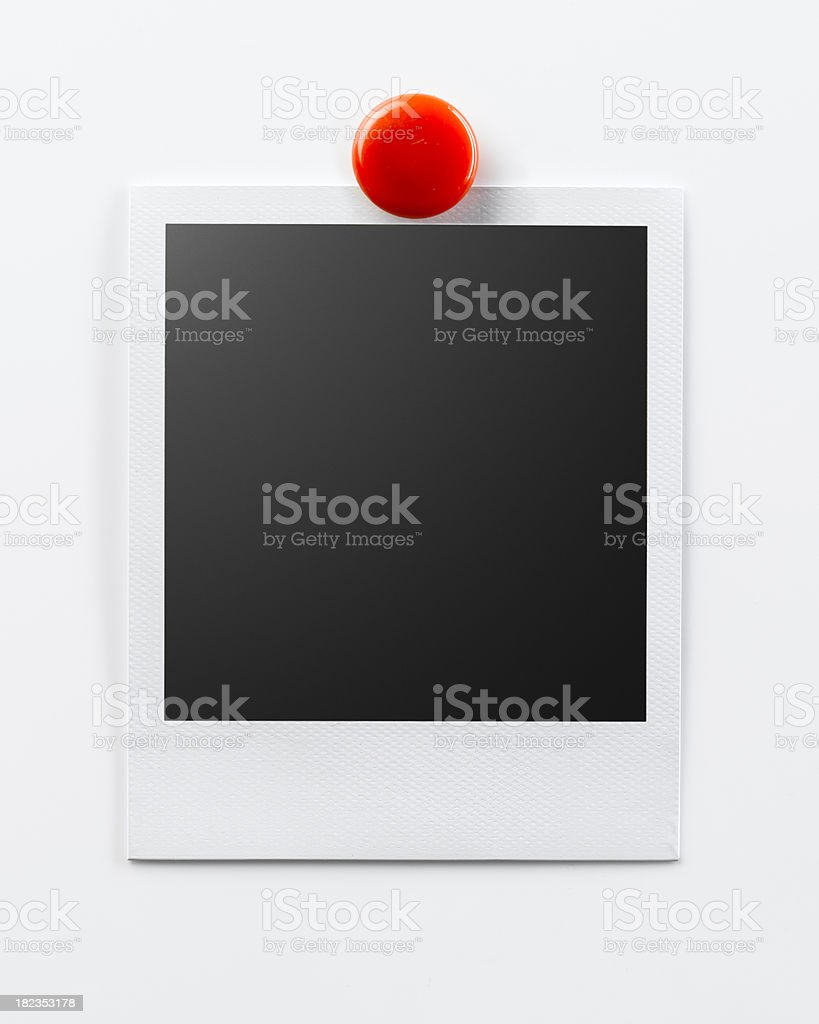 Photo with Red Magnet royalty-free stock photo