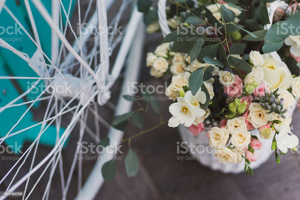 Photo zone for guests at wedding reception stock photo
