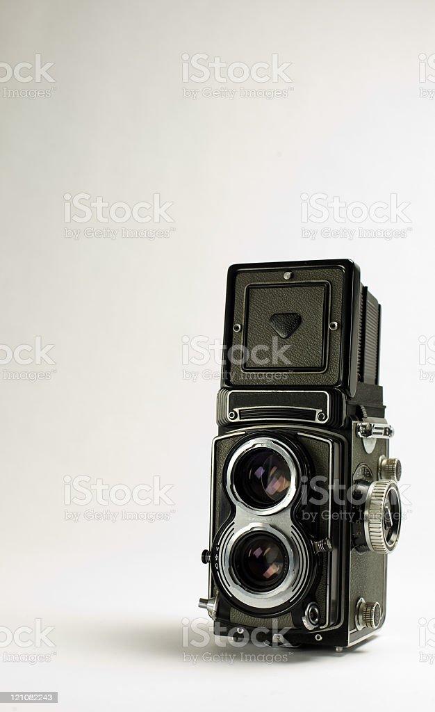 Photocamera TLR stock photo