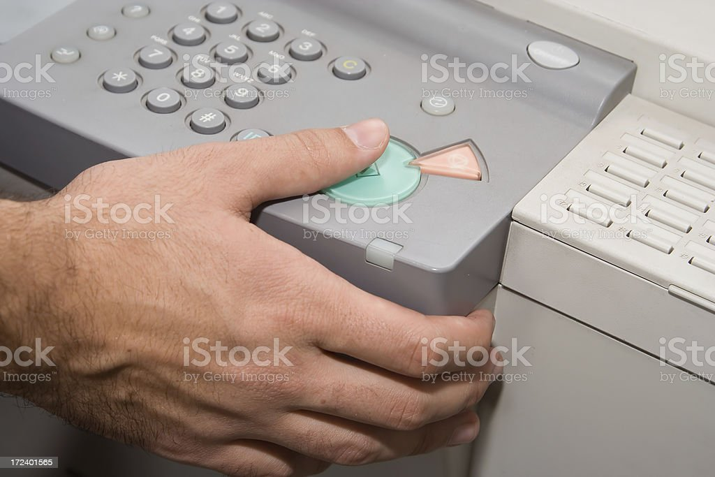 photocopier in action stock photo
