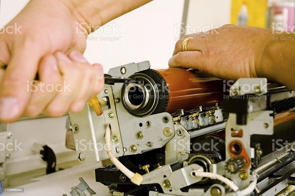 Photocopier Machine Maintenance stock photo
