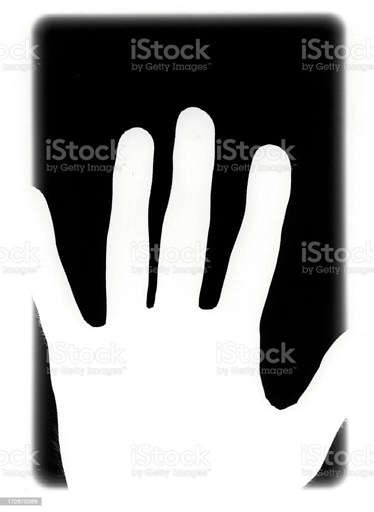 Photogram - Hand Negative stock photo
