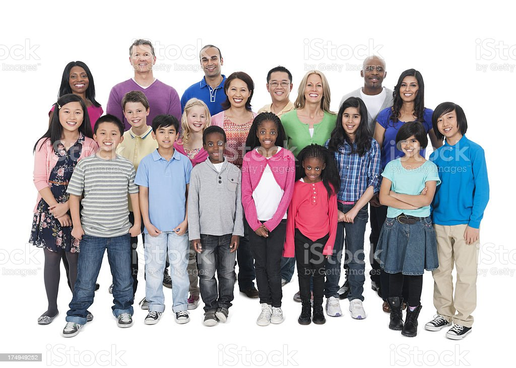 Photograph featuring multi cultural people and or families. royalty-free stock photo