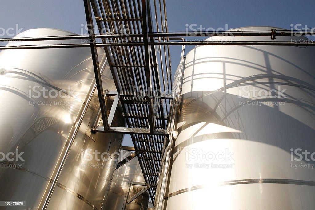 Fotografia di una fabbrica di birra foto stock royalty-free