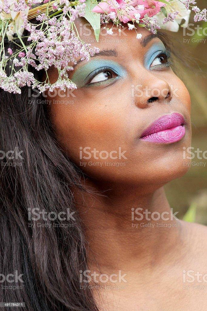 Fotografia di una giovane bella donna foto stock royalty-free