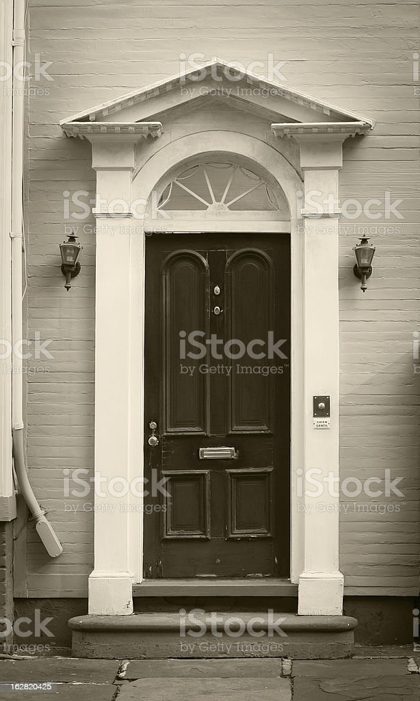Photograph of an antique entrance royalty-free stock photo