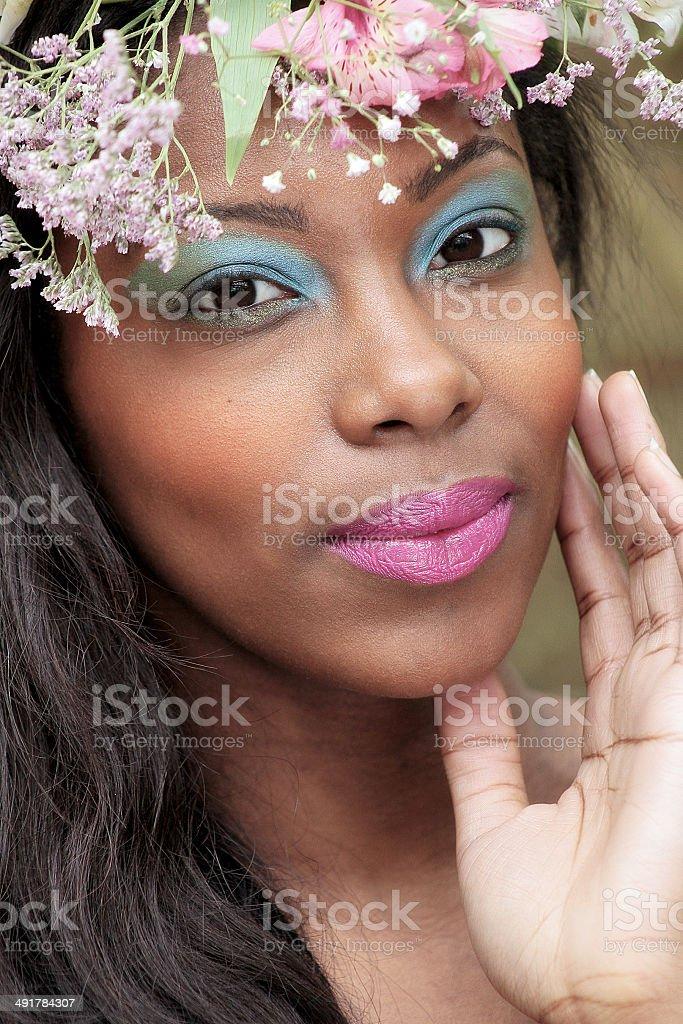 Fotografia di una giovane donna esotica foto stock royalty-free