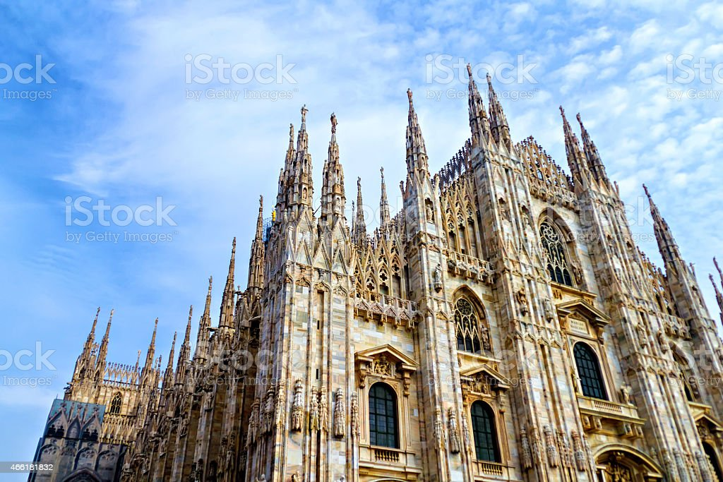 A photograph of Duomo, the Milan Cathedral in Italy stock photo