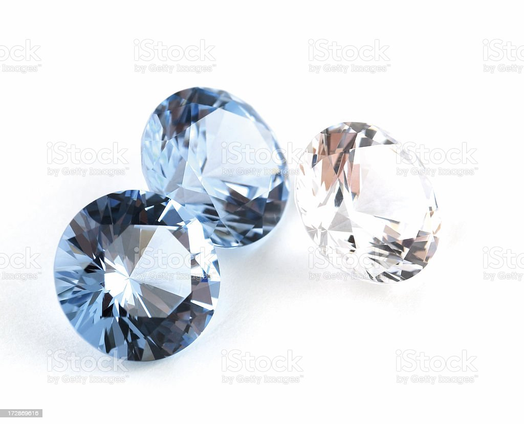 Photograph of Faceted Gemstones on White royalty-free stock photo