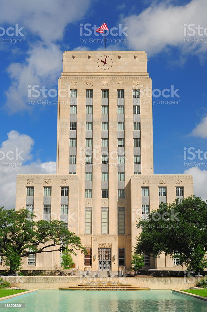Photograph of Houston City Hall in Texas, USA stock photo