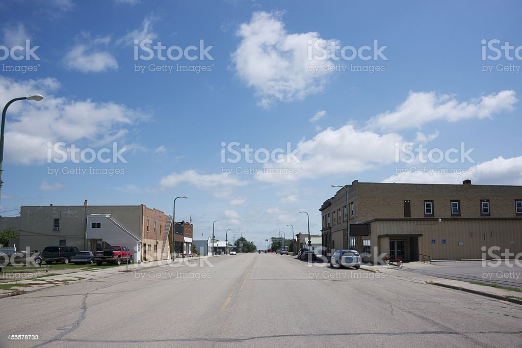 Photograph of Main Street in Remote Rural Town royalty-free stock photo