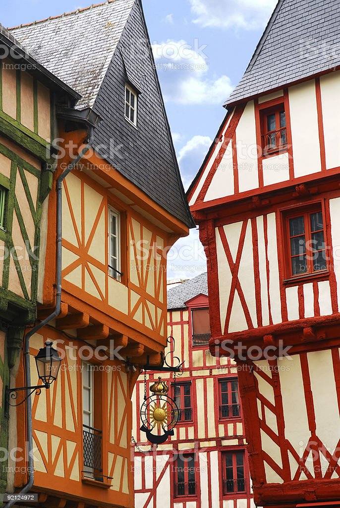 Photograph of medieval vannes in France royalty-free stock photo