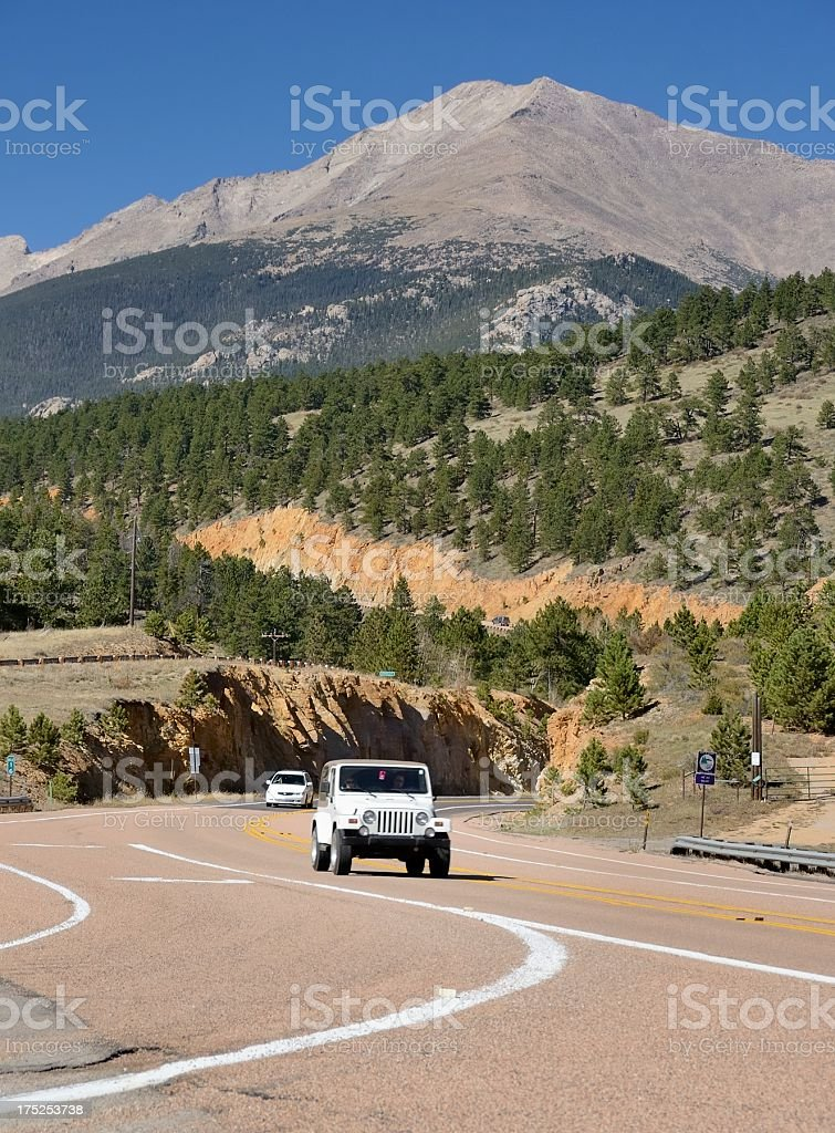 Photograph of road located in Colorado. royalty-free stock photo