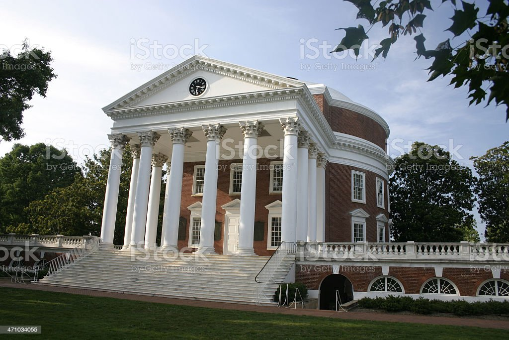 Photograph of Rotunda at the University of Virginia stock photo