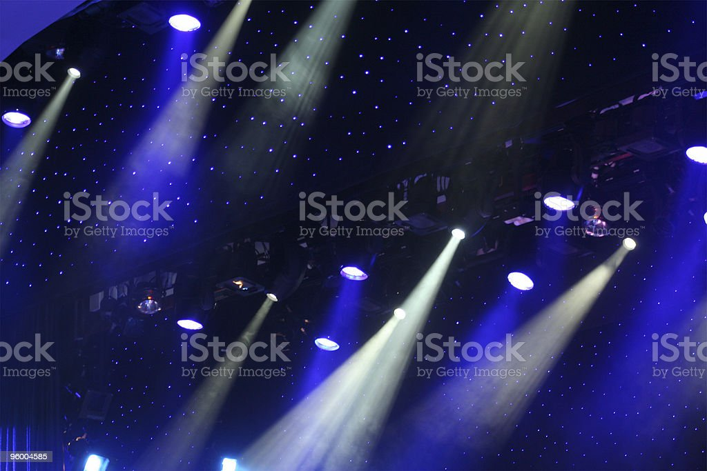 Photograph of stage lighting and spotlights royalty-free stock photo