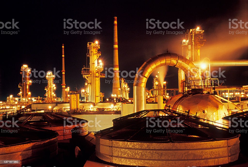 Photograph of the gas and oil industry machinery stock photo