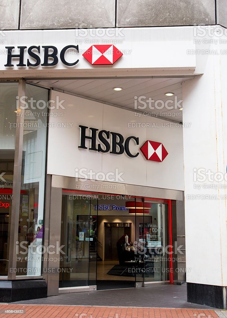 Photograph of the HSBC Branch in Leeds royalty-free stock photo