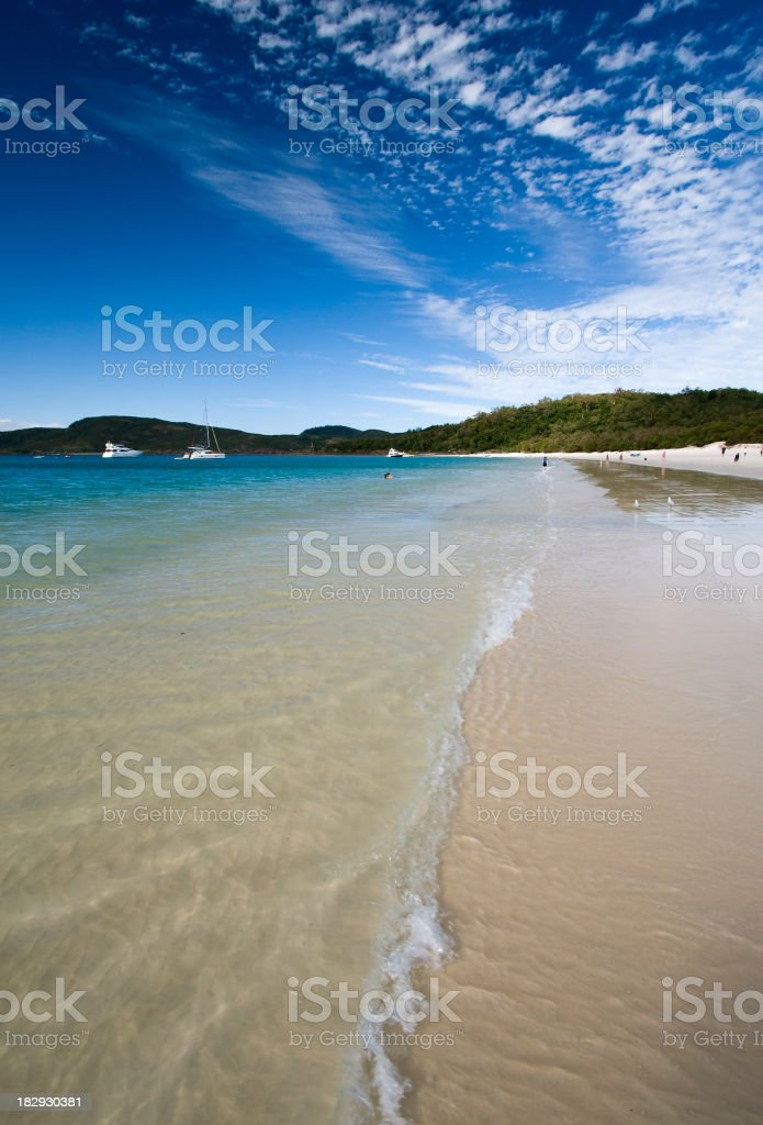 Photograph of the Whitehaven Beach stock photo