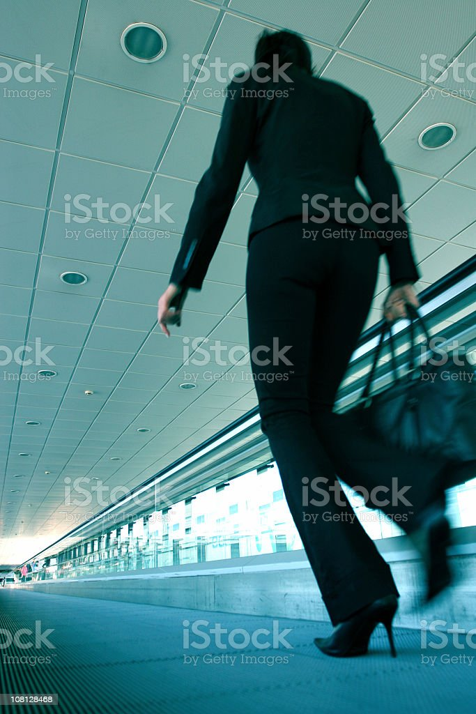 Photograph showing a business woman travelling royalty-free stock photo