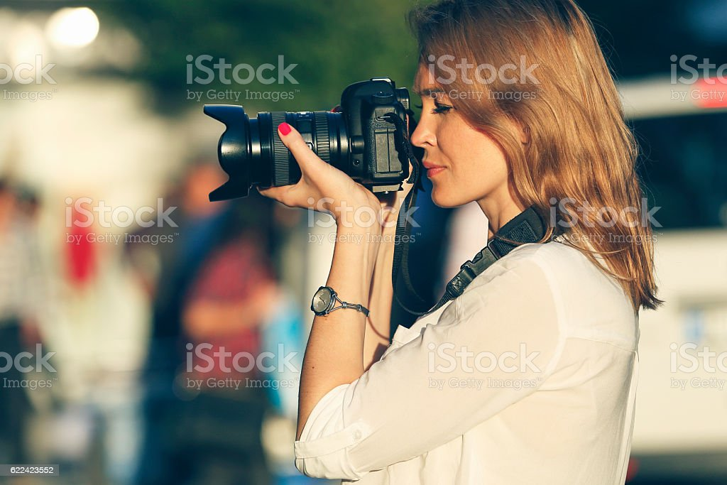 Photographer - Always catch the moment stock photo