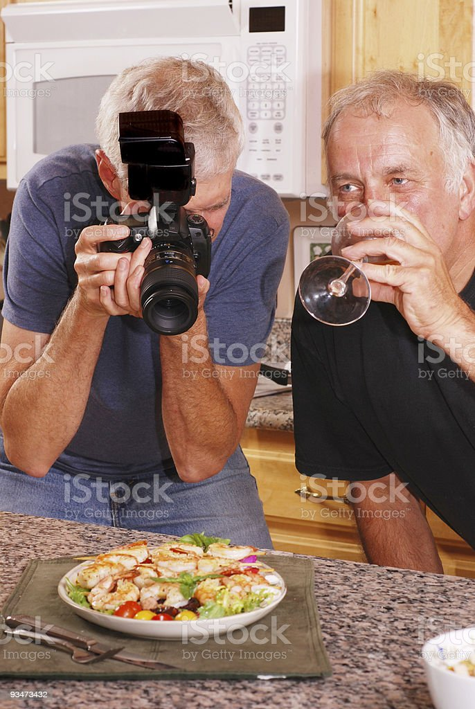 Photographer and Friend royalty-free stock photo