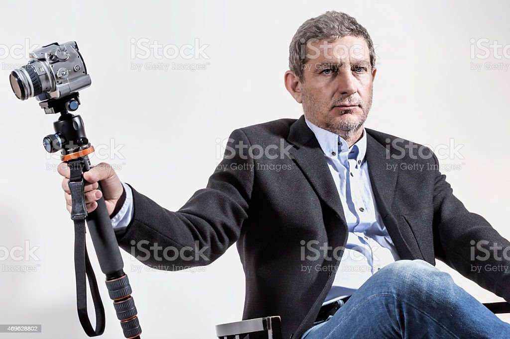 Photographer and his Sceptre stock photo
