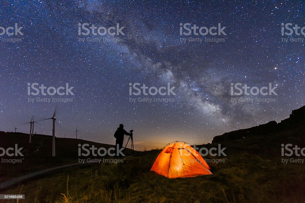 Photographer and the Universe stock photo