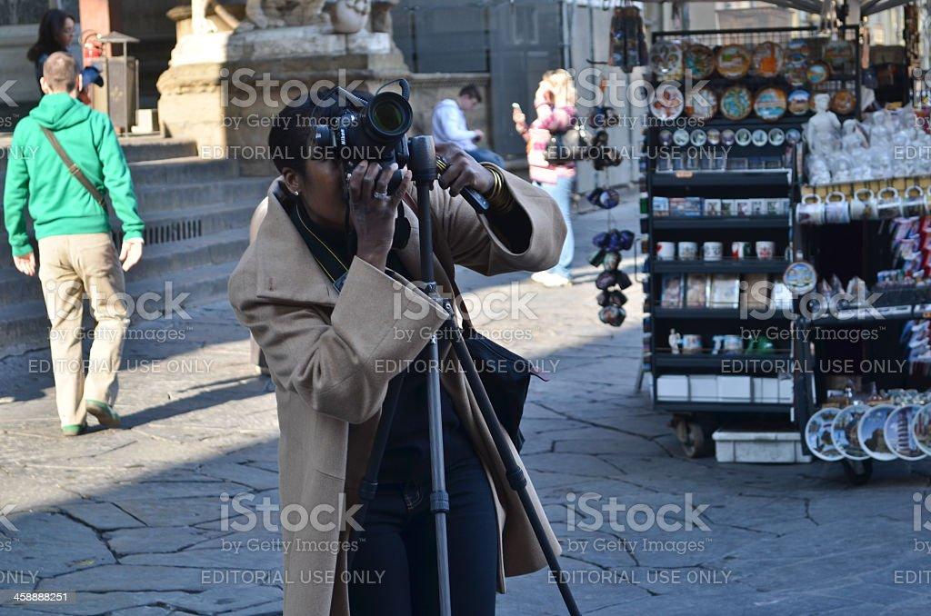 Photographer at Florence stock photo