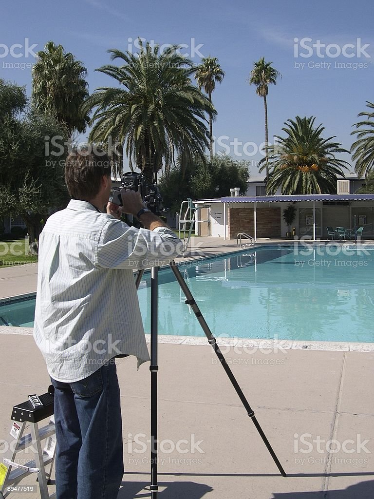 photographer at Stardust pool Las Vegas royalty-free stock photo