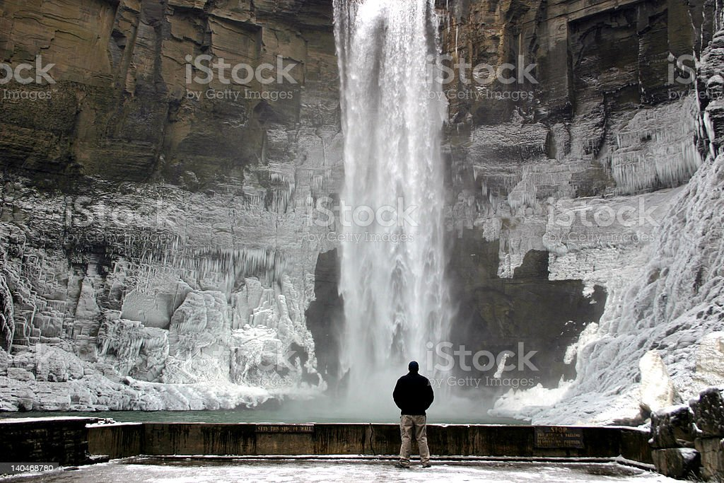Photographer at Taughannock Falls - New York stock photo