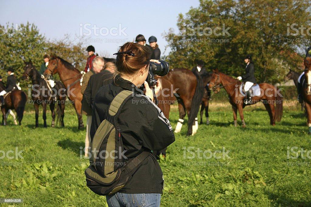 Photographer at work stock photo