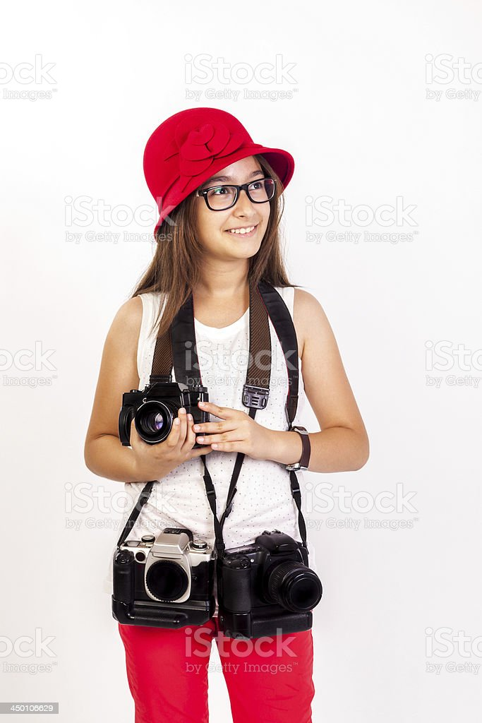 Photographer Girl royalty-free stock photo