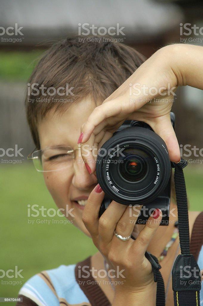 photographer girl royalty-free stock photo