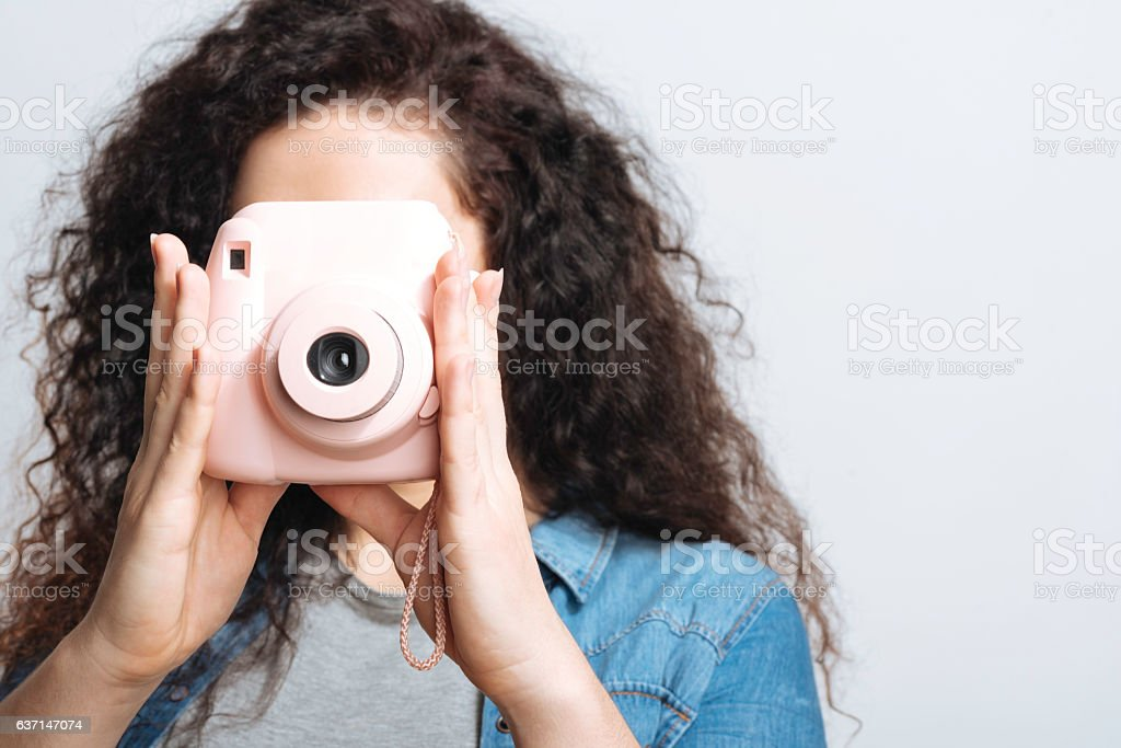 Photographer going in for photos. stock photo