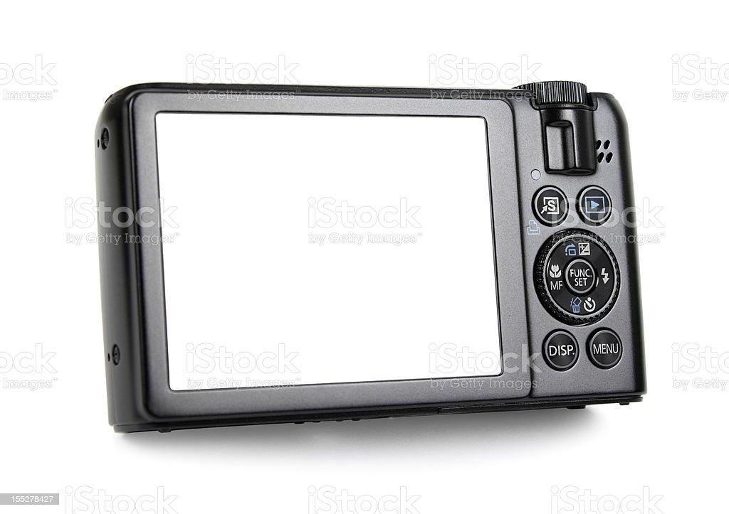 Photographer Holding a Camera stock photo