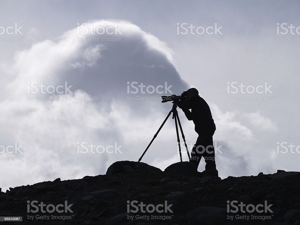 Photographer in Heaven 2 royalty-free stock photo