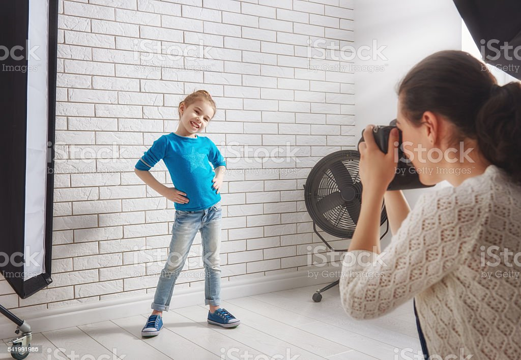 Photographer in motion. stock photo
