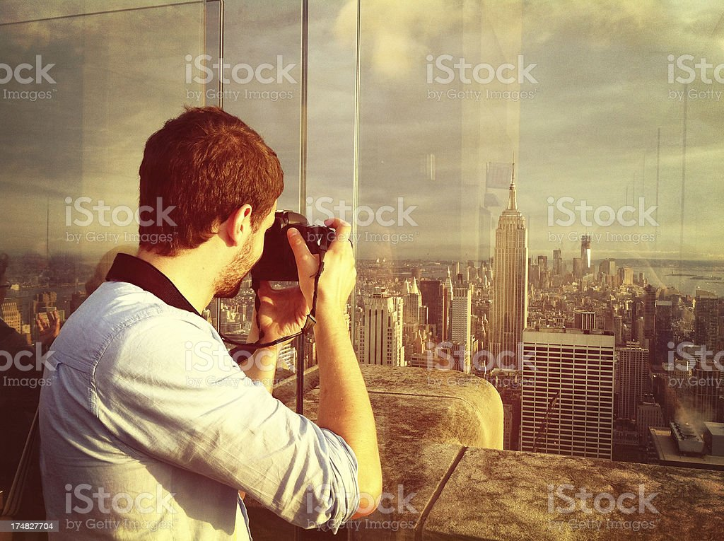 Photographer in NYC stock photo