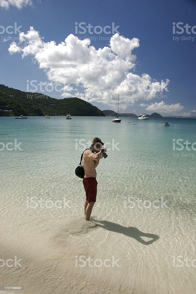 Photographer in Paradise royalty-free stock photo